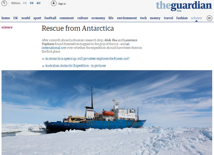 rescue from antarctica