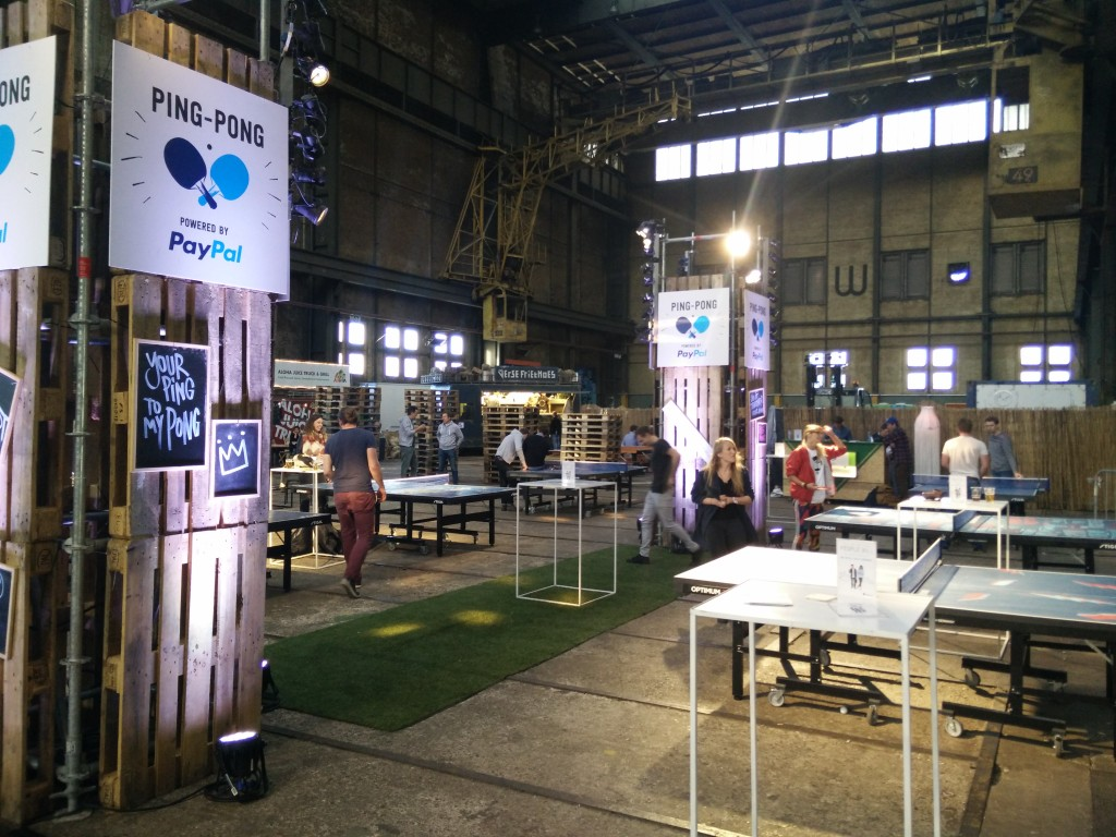 PayPal Ping Pong Area at Uprise Festival 2015