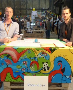 Vsoundbox Founders at Uprise Festival 2015