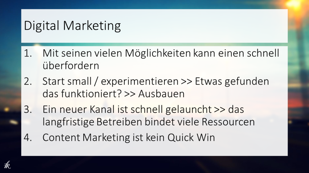 Digitales Marketing Jungunternehmertag 2015 Rolf Mistelbacher Fresh van Root