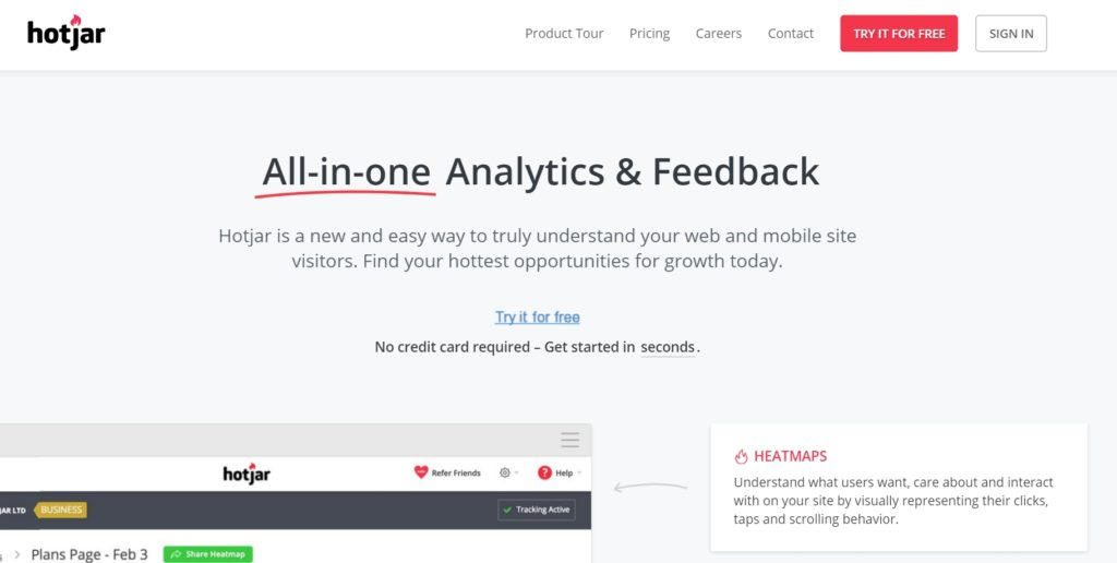 Hotjar Website Screenshot