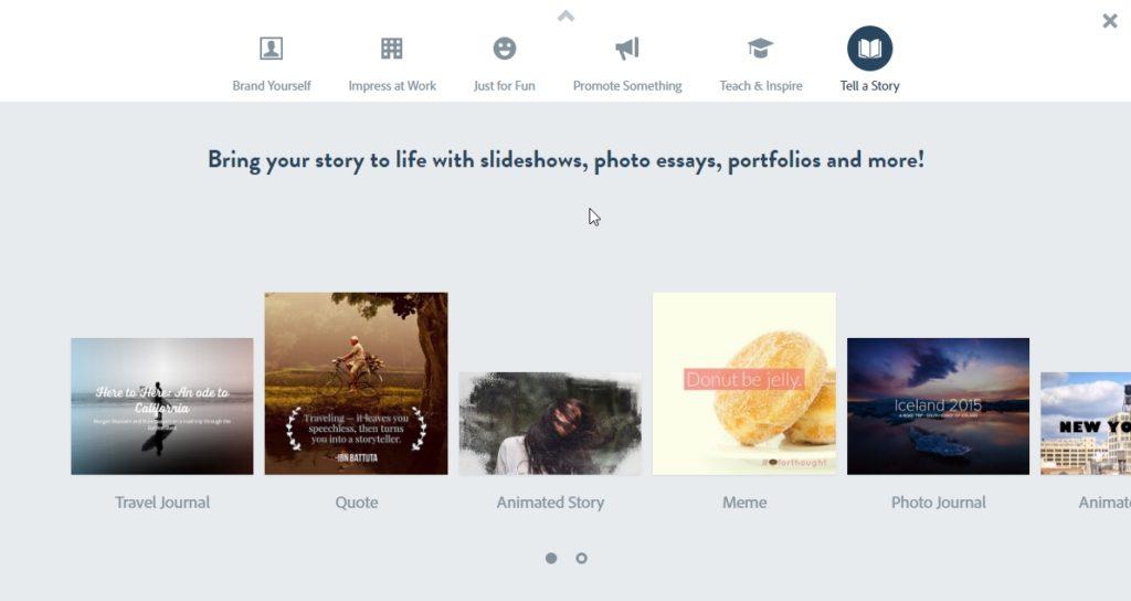 Adobe Spark Gallery