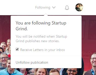 Following a publication on Medium.com