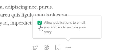 Publication Setting for a Medium.com Story