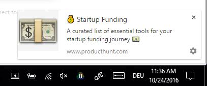 producthunt-notification-on-desktop-windows-10