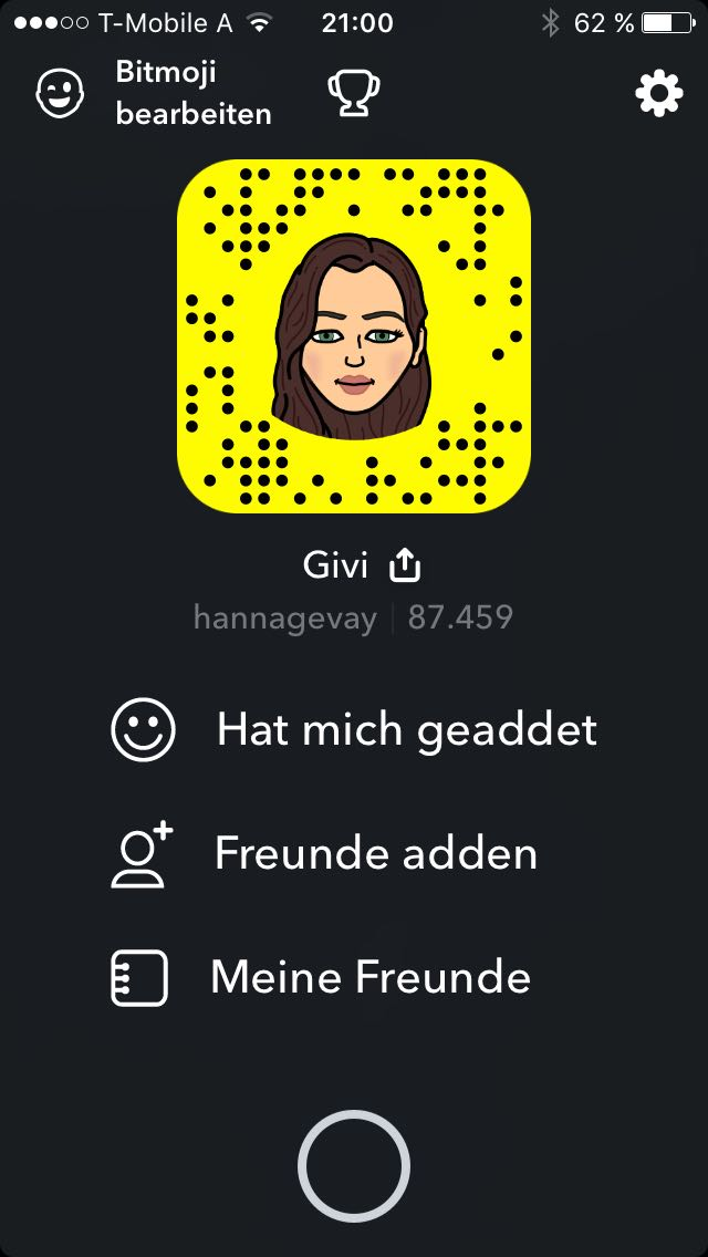 87K snaps in 4 month (new account created due to lost password)