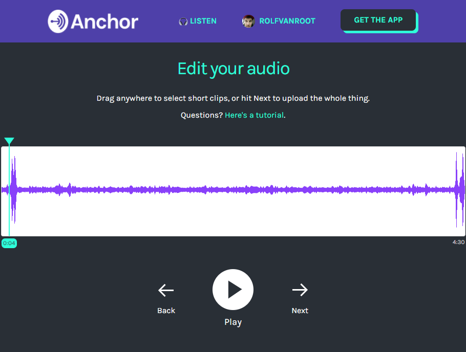 Uploading your radio show or podcast via web app on anchor.fm