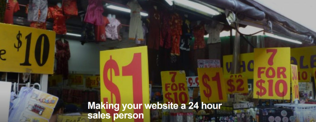 Making your website a 24 hour sales person