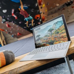 Surface Laptop Kletterhalle
